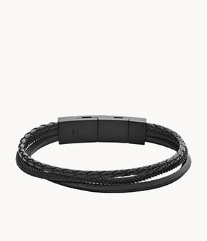 Herren Armband Triple-Strand Leather