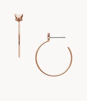 Damen Ohrringe Rose Gold-Tone Stainless Steel