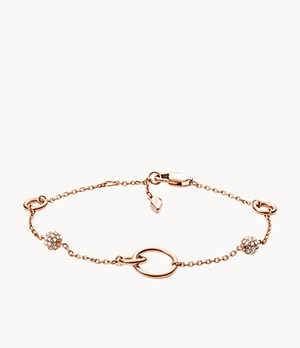 Rose Gold-Tone Stainless Steel Bracelet