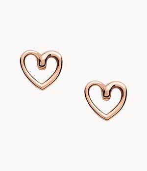 Rose Gold-Tone Stainless Steel Stud Earrings