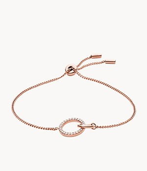 Rose Gold-Tone Stainless Steel Chain Bracelet