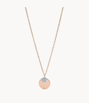 Rose-Gold-Tone Stainless Steel Pendant Necklace