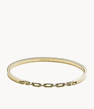 Gold-Tone Stainless Steel Bangle Bracelet