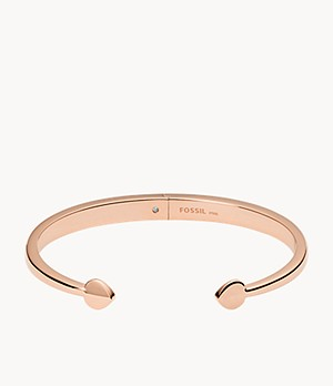 Rose Gold-Tone Stainless Steel Bangle Bracelet