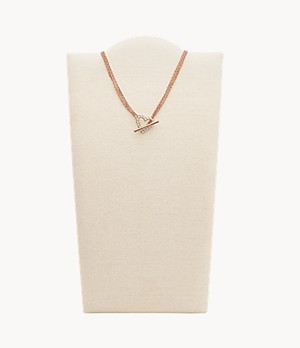Rose Gold-Tone Stainless Steel Multi-Strand Necklace