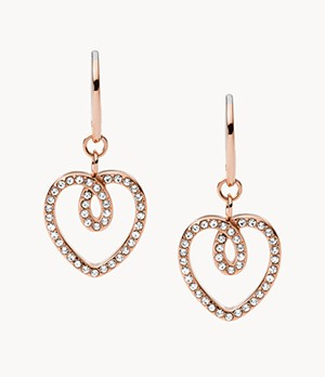 Rose Gold-Tone Stainless Steel Drop Earrings