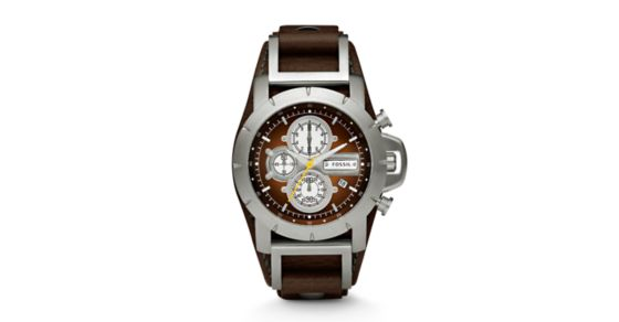 Jake Chronograph Brown Leather Watch - Fossil