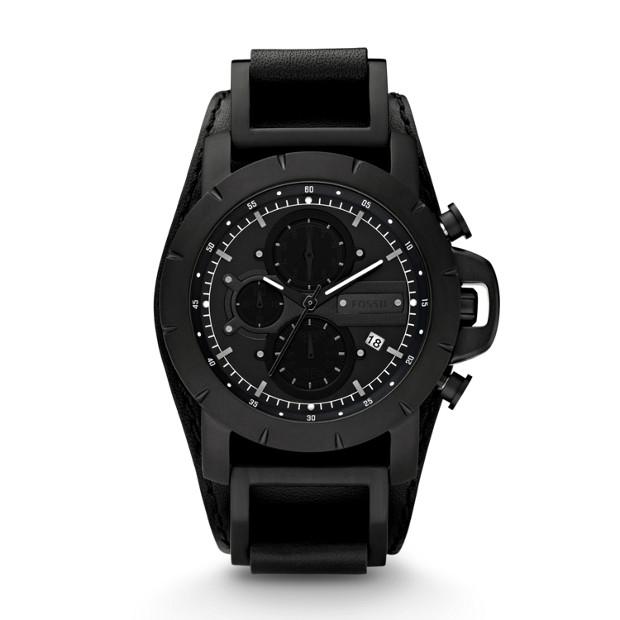 Jake Leather Watch - Black