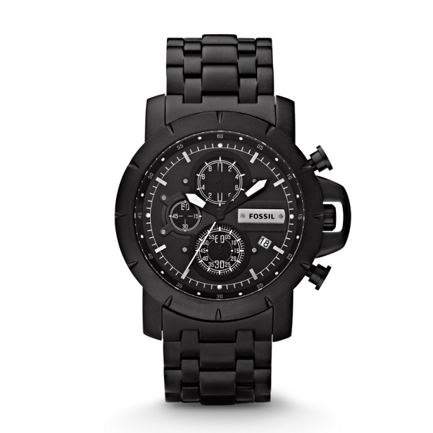 Jake Plated Stainless Steel Watch - Black