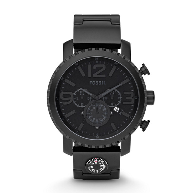 Gage Plated Stainless Steel Watch - Black