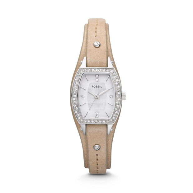 Marjorie Three Hand Leather Watch - Sand