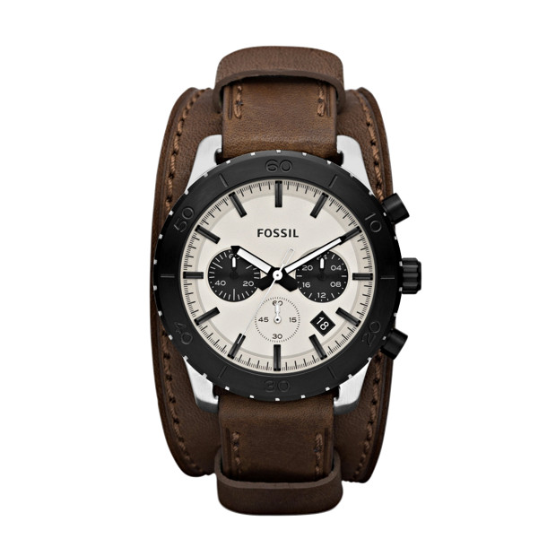 Keaton Leather Watch - Brown