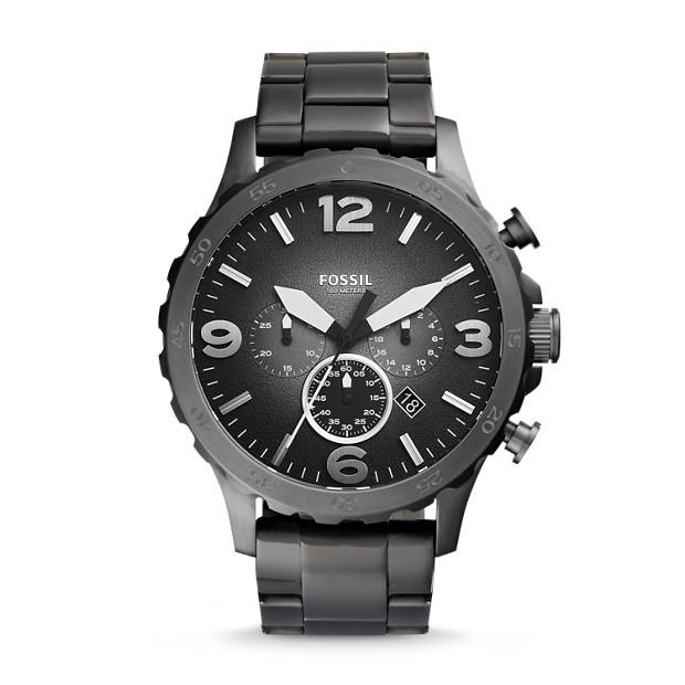 Nate Chronograph Smoke Stainless Steel Watch