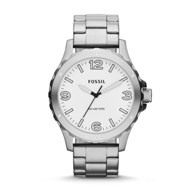 Nate Three-Hand Stainless Steel Watch