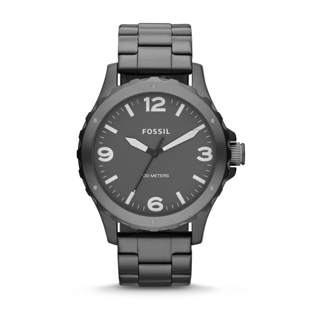 Nate Smoke Stainless Steel Watch