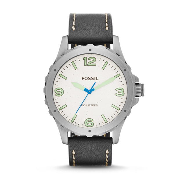 Nate Black Leather Watch