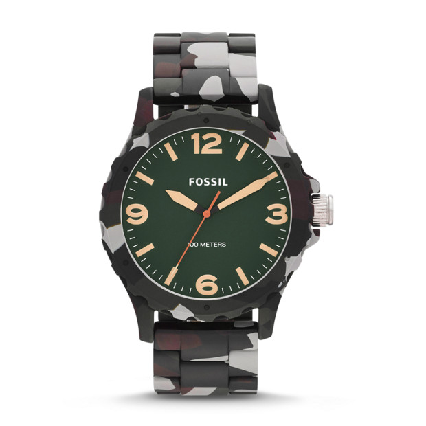 Nate Three-Hand Resin Watch - Green Camo