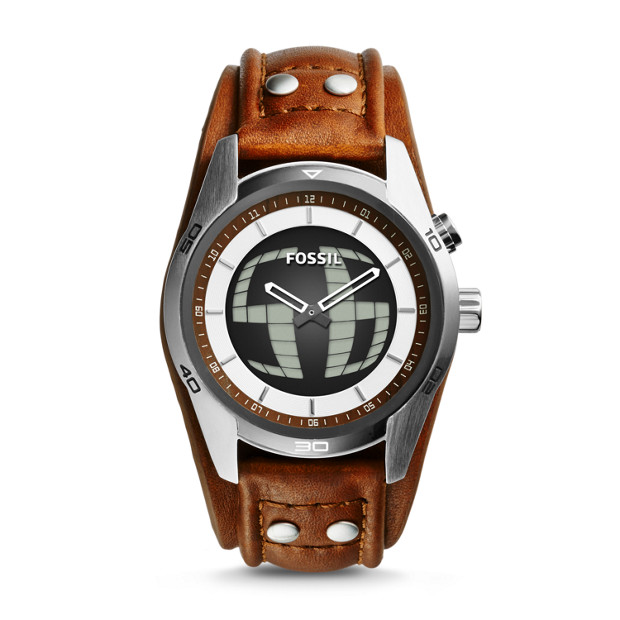 Coachman Digital Brown Leather Watch