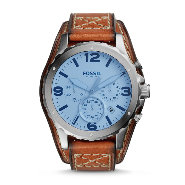 Nate Chronograph Light Brown Leather