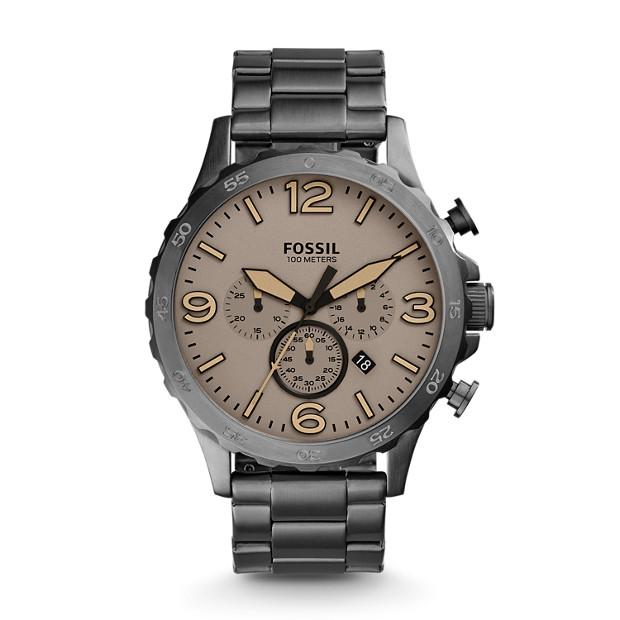 Montre Nate chronographe en acier inoxydable anthracite