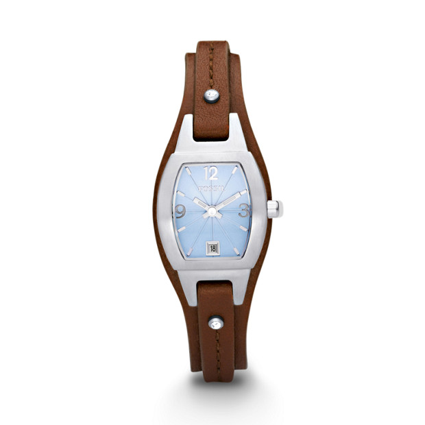 Marjorie Three Hand Leather Watch – Brown