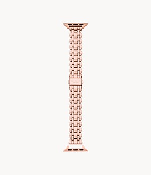 bracelet en acier inoxydable ton or rose festonné pour Apple WatchMD kate spade new york