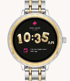 refurbished kate spade new york touchscreen smartwatch scalloped two-tone steel