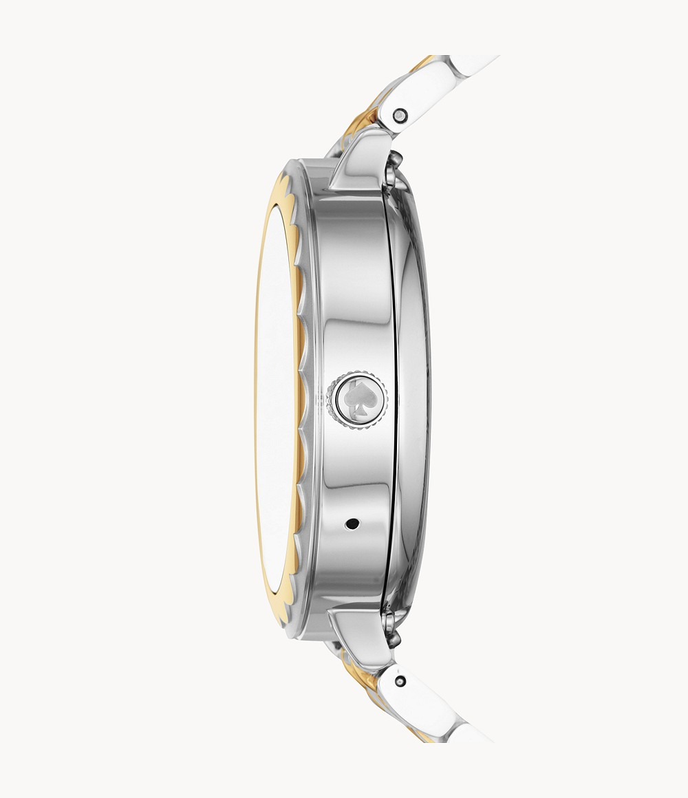 REFURBISHED kate spade new york touchscreen smartwatch scalloped two-tone stainless steel - KST2007J - Watch Station