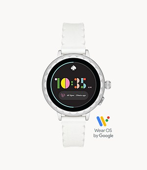 kate spade new york scallop smartwatch 2 - white silicone