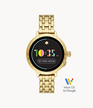 kate spade new york raven scallop smartwatch 2 - gold-tone stainless steel