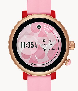 kate spade new york sport smartwatch - pink silicone