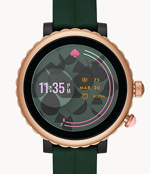 kate spade new york sport smartwatch - green silicone