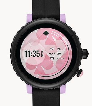 kate spade new york sport smartwatch - black silicone