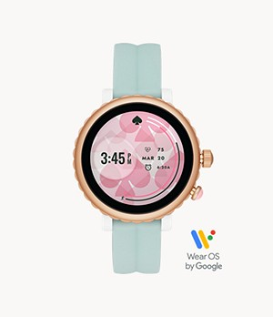 kate spade new york sport mint silicone touchscreen smartwatch