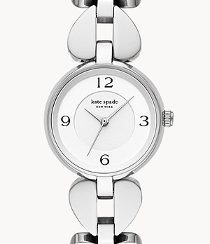 kate spade new york annadale three-hand stainless steel stainless steel bracelet watch