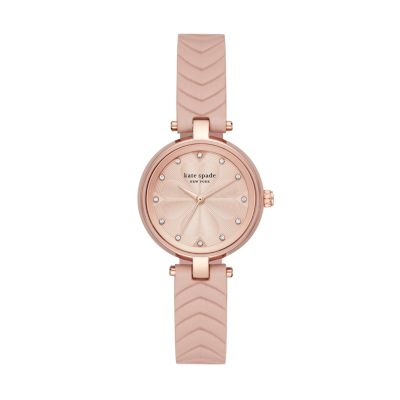 Kate spade new york annadale three-hand matte nude leather watch - KSW1545 - Watch Station