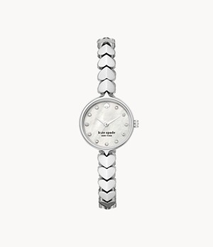 kate spade new york hollis three-hand steel watch