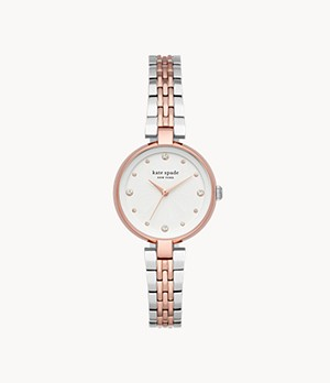 kate spade new york annadale three-hand two-tone stainless steel watch