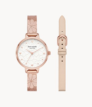 kate spade new york metro watch set
