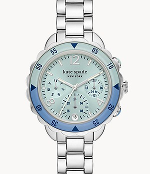 kate spade new york baywater multifunction stainless steel bracelet watch