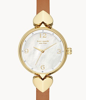 montre en cuir bagage hollis kate spade new york