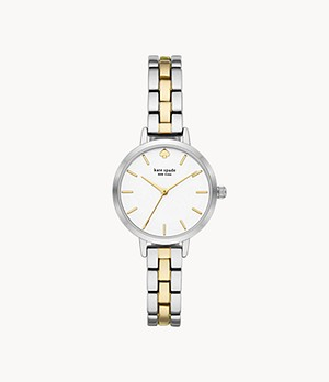 kate spade new york metro three-hand two-tone metal watch