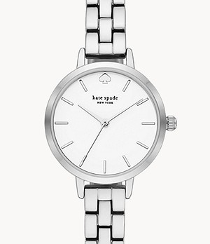 kate spade new york metro three-hand metal watch