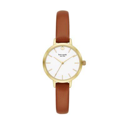 Kate spade new york metro three-hand brown leather watch - KSW9006 - Watch Station