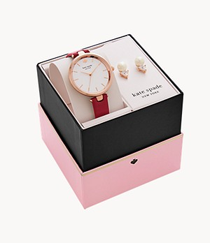 Coffret de montre holland et boucles d'oreilles kate spade new york
