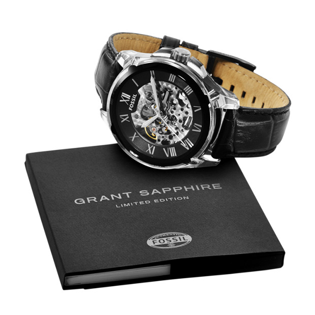 Limited Edition Grant Automatic Black Leather Watch
