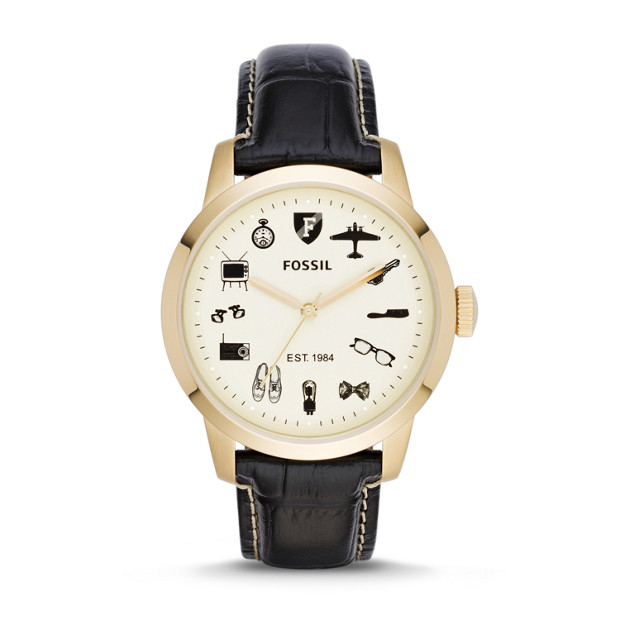 limited edition townsman black leather fossil