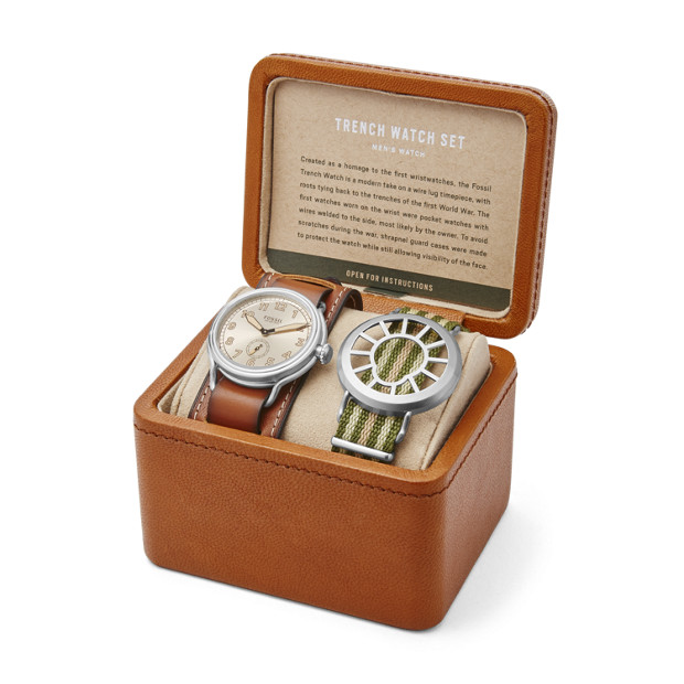 Limited-Edition Fossil Trench Two-Hand Watch Set