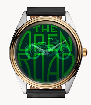 The Hologram Watch Archival Series Black Leather Watch
