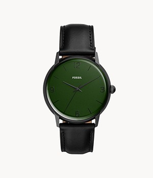 The Archival Series Mood Watch Three-Hand Black Leather Watch